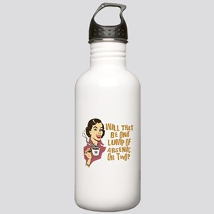 Funny Retro Coffee Humor Stainless Water Bottle 1.