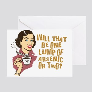 Funny Retro Coffee Humor Greeting Card