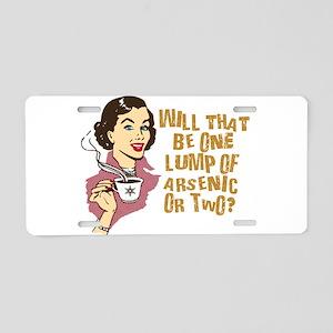 Funny Retro Coffee Humor Aluminum License Plate