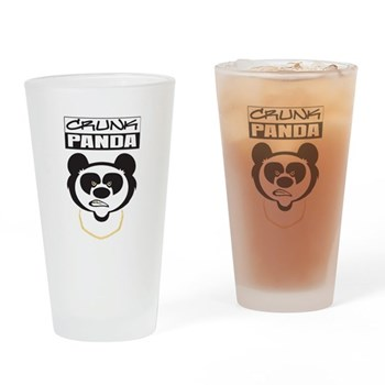 Crunk Panda Drinking Glass