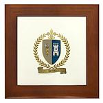 POITIER Family Crest Framed Tile