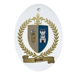 POITIER Family Crest Oval Ornament