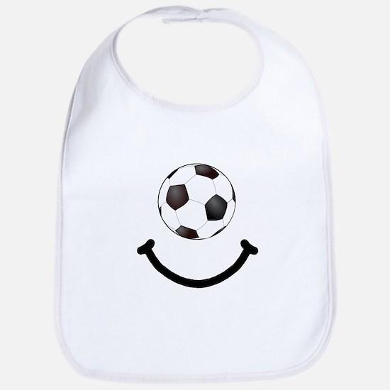 Soccer Smile Bib