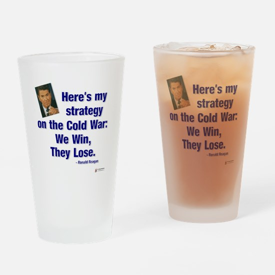 Reagan Cold War Drinking Glass