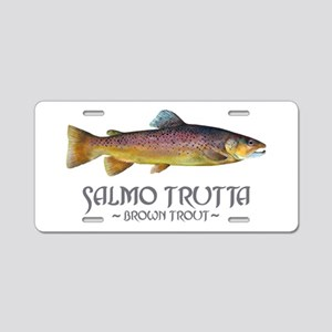 Salmo Trutta - Brown Trout Aluminum License Plate