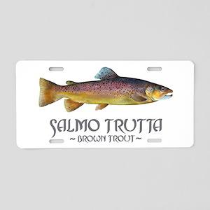 Salmo Trutta - Brown Trout Aluminum License Plate