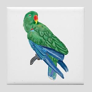 Eclectus Parrot Tile Coaster