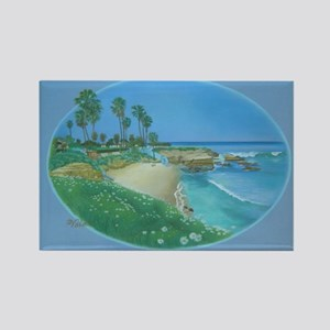 Floating Cove Rectangle Magnet