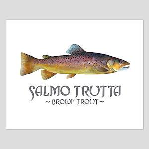 Salmo Trutta - Brown Trout Small Poster