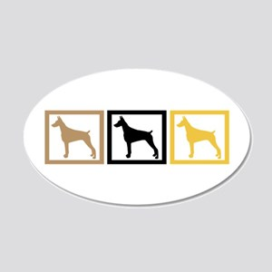 Doberman Pinscher 22x14 Oval Wall Peel
