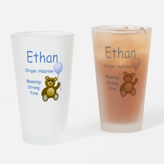 Boy Names Drinking Glass