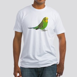 Green Parakeet Fitted T-Shirt