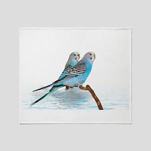 Parakeet Friends Throw Blanket