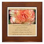 Matthew 6:30 Framed Tile