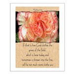 Matthew 6:30 Small Poster
