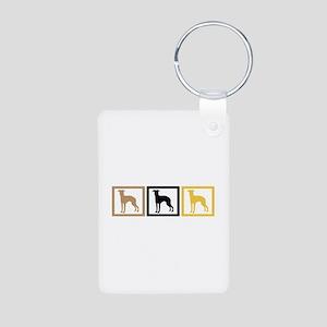 Greyhound Aluminum Photo Keychain