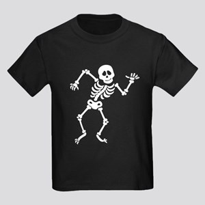 Dancing Skeleton Kids Dark T-Shirt