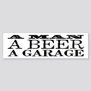 A Man, A Beer, A Garage Sticker (Bumper)