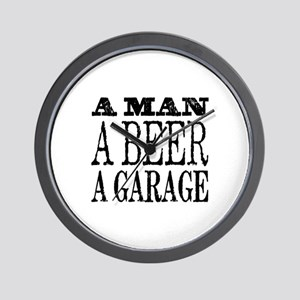 A Man, A Beer, A Garage Wall Clock