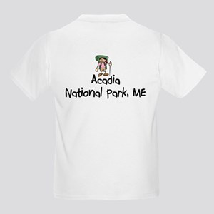 Arcadia National Park (Girl) Kids Light T-Shirt