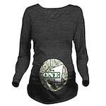 Long Sleeve Maternity T-Shirt (dark) 3