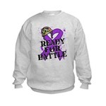 Battle Leiomyosarcoma Kids Sweatshirt
