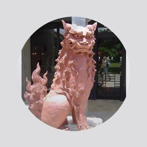 Red Shisa Ornament (Round)