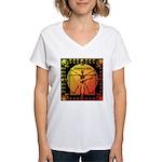 Leoguitar1 Women's V-Neck T-Shirt