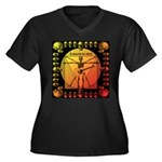 Leoguitar1 Women's Plus Size V-Neck Dark T-Shirt