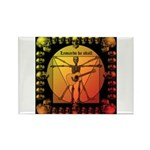 Leoguitar1 Rectangle Magnet (100 pack)