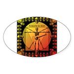 Leoguitar1 Sticker (Oval 10 pk)