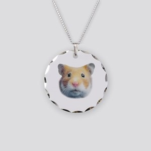Hamsters; Syrian Hamster Necklace Circle Charm