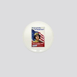 WAC Star-Spangled Heart Mini Button