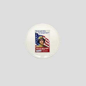 WAC Star-Spangled Heart Mini Button