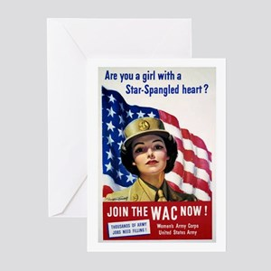 WAC Star-Spangled Heart Greeting Cards (Package of
