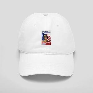 WAC Star-Spangled Heart Cap