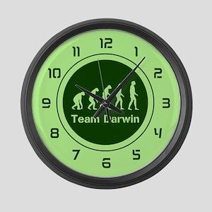 Team Darwin (green) Large Wall Clock