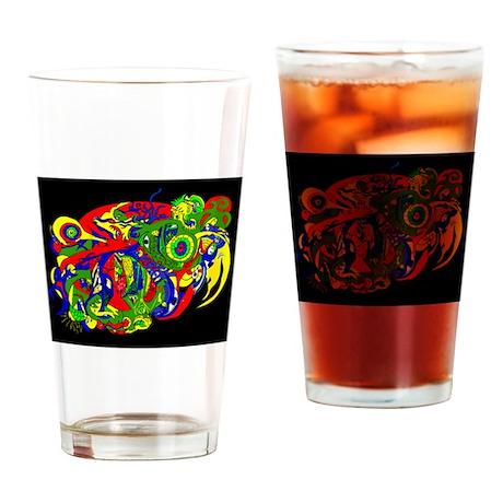 GodWeird-MultiColor- Drinking Glass