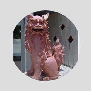Red Shisa 2 Ornament (Round)