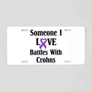 Crohns Aluminum License Plate