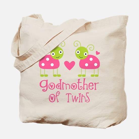 Godmother Of Twins Tote Bag