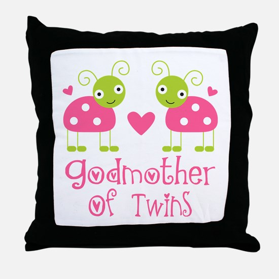 Godmother Of Twins Throw Pillow