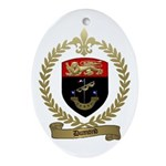 DUMOND Family Crest Oval Ornament