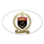 DUMOND Family Crest Oval Sticker