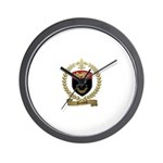DUMOND Family Crest Wall Clock
