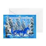Blue Horse Xmas Greeting Cards (Pk of 20)