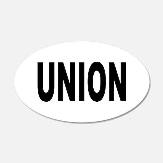 Union 22x14 Oval Wall Peel