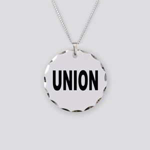 Union Necklace Circle Charm