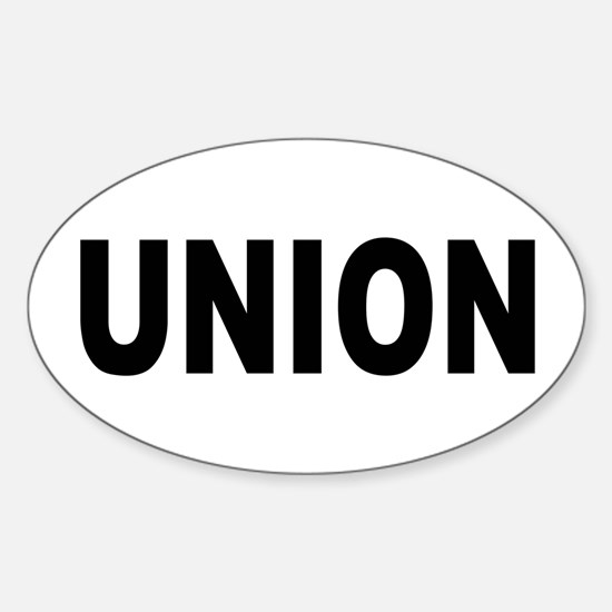 Union Sticker (Oval)