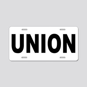 Union Aluminum License Plate